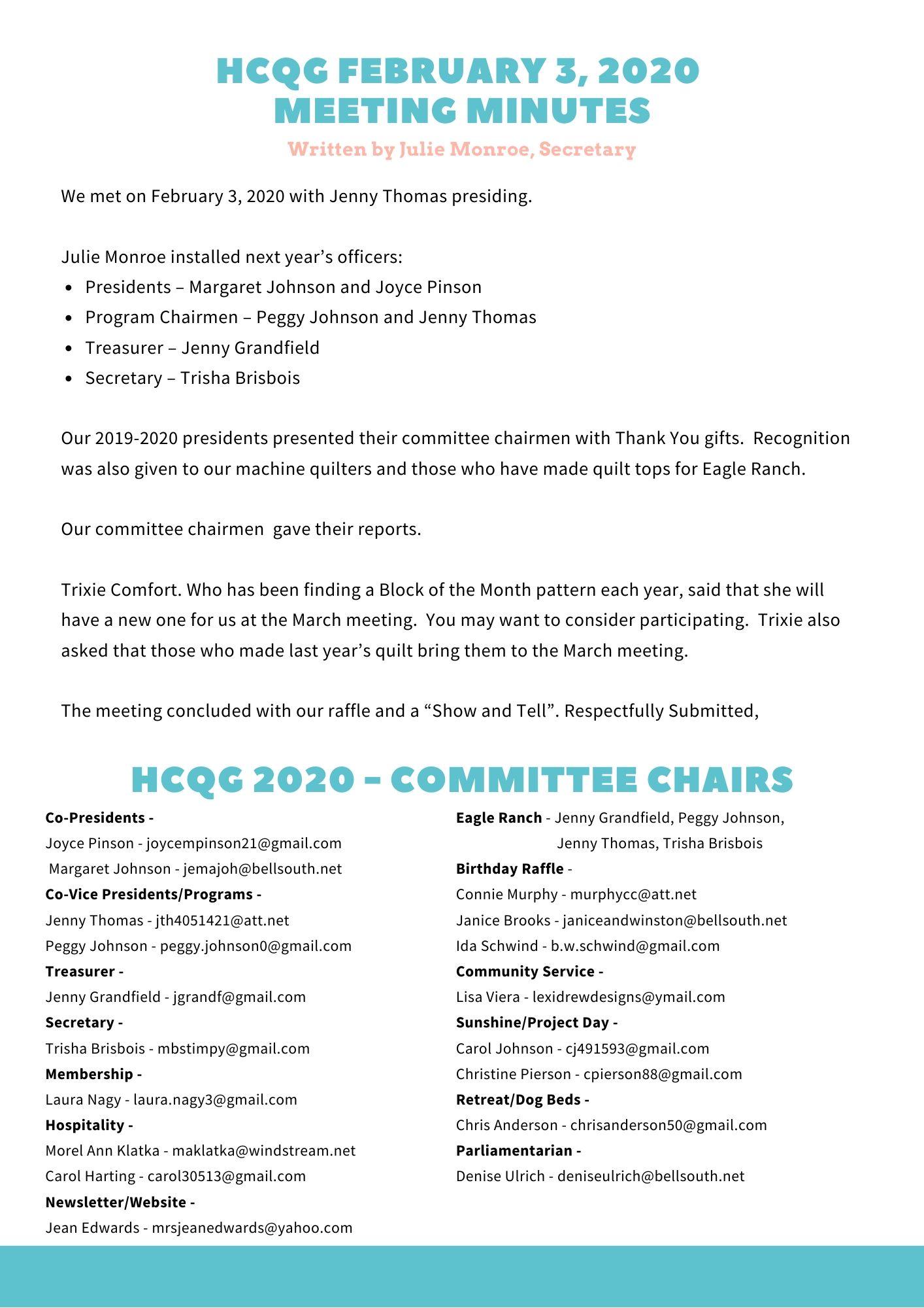 HCQG March Newsletter (3)